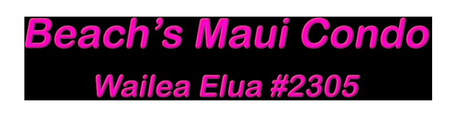 Beach's Maui Condo